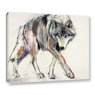 Brushstone Wolf Gallery Wrapped Canvas