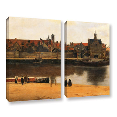 Brushstone View of Delft 2-pc. Gallery Wrapped Canvas Wall Art