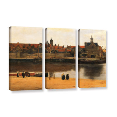 Brushstone View of Delft 3-pc. Gallery Wrapped Canvas Wall Art