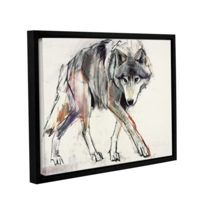 Brushstone Wolf Mark Aldington Gallery Wrapped Floater-Framed Canvas Wall Art