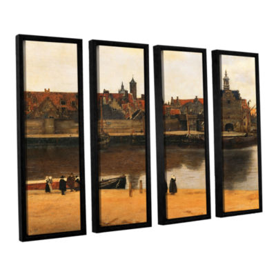 Brushstone View of Delft 4-pc. Floater Framed Canvas Wall Art