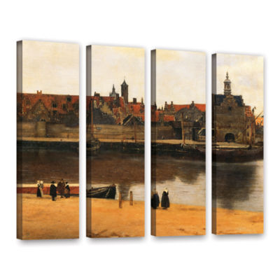 Brushstone View of Delft 4-pc. Gallery Wrapped Canvas Wall Art