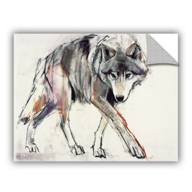 Brushstone Wolf Mark Aldington Removable Wall Decal