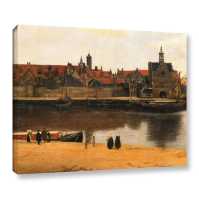 Brushstone View of Delft Gallery Wrapped Canvas Wall Art
