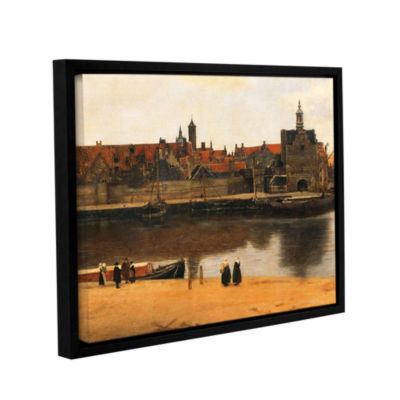 Brushstone View of Delft Gallery Wrapped Floater-Framed Canvas Wall Art