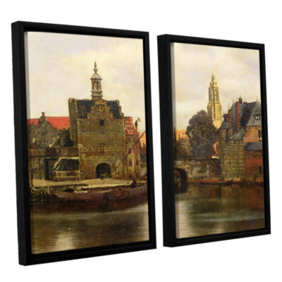 Brushstone View of Delft II 2-pc. Floater Framed Canvas Wall Art