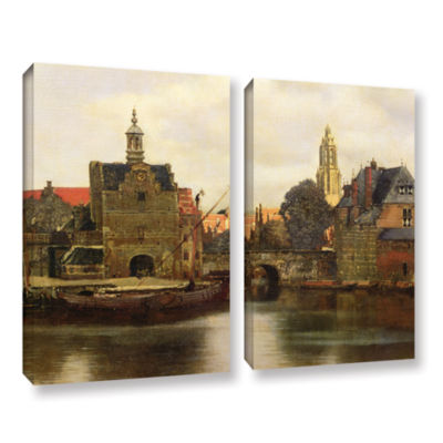 Brushstone View of Delft II 2-pc. Gallery WrappedCanvas Wall Art