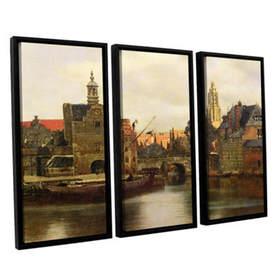 Brushstone View of Delft II 3-pc. Floater Framed Canvas Wall Art