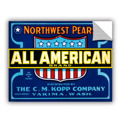 Brushstone All American Brand Fruit Crate Label c.1920 Removable Wall Decal