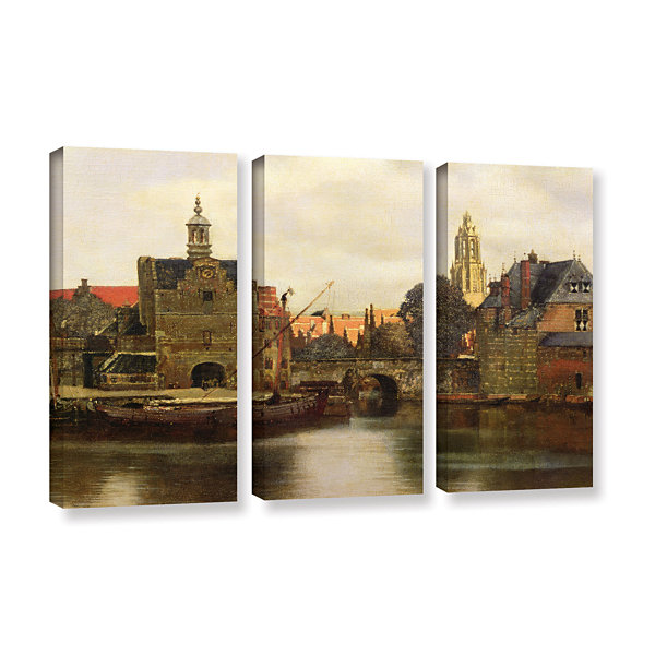 Brushstone View of Delft II 3-pc. Gallery WrappedCanvas Wall Art