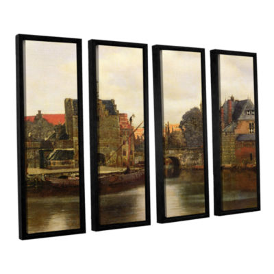 Brushstone View of Delft II 4-pc. Floater Framed Canvas Wall Art