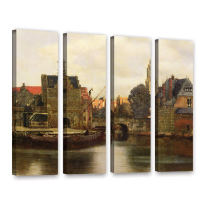 Brushstone View of Delft II 4-pc. Gallery WrappedCanvas Wall Art