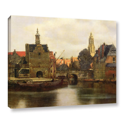 Brushstone View of Delft II Gallery Wrapped CanvasWall Art