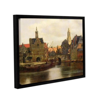 Brushstone View of Delft II Gallery Wrapped Floater-Framed Canvas Wall Art