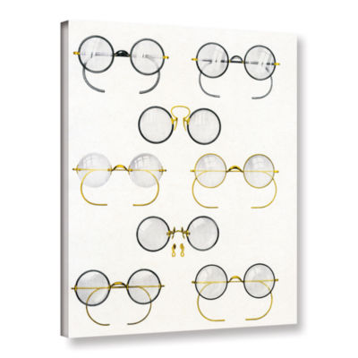 Brushstone Eight Pairs of Glasses  c.1925 GalleryWrapped Canvas Wall Art