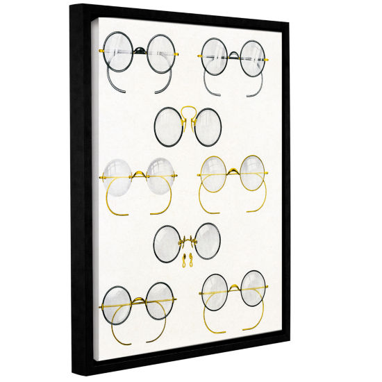 Brushstone Eight Pairs of Glasses c.1925 Gallery Wrapped Floater-Framed Canvas Wall Art