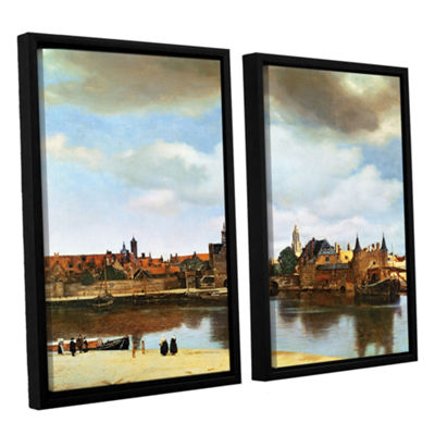 Brushstone View of Delft III 2-pc. Floater FramedCanvas Wall Art