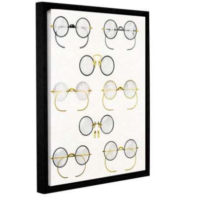 Brushstone Eight Pairs of Glasses  c.1925 GalleryWrapped Floater-Framed Canvas Wall Art
