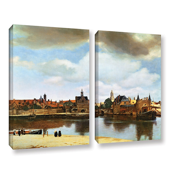 Brushstone View of Delft III 2-pc. Gallery WrappedCanvas Wall Art