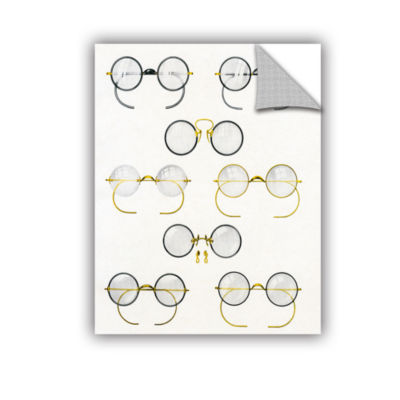 Brushstone Eight Pairs of Glasses  c.1925 Removable Wall Decal