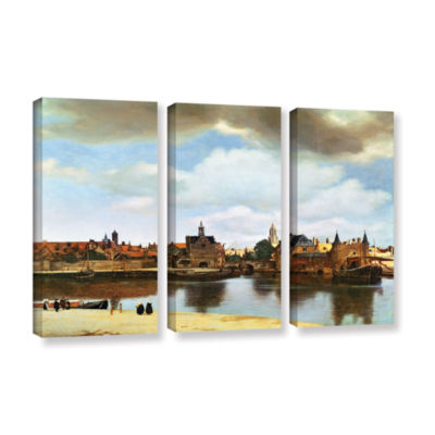 Brushstone View of Delft III 3-pc. Gallery WrappedCanvas Wall Art