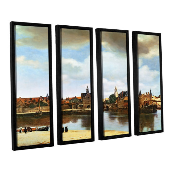 Brushstone View of Delft III 4-pc. Floater FramedCanvas Wall Art