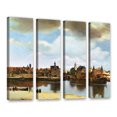 Brushstone View of Delft III 4-pc. Gallery WrappedCanvas Wall Art
