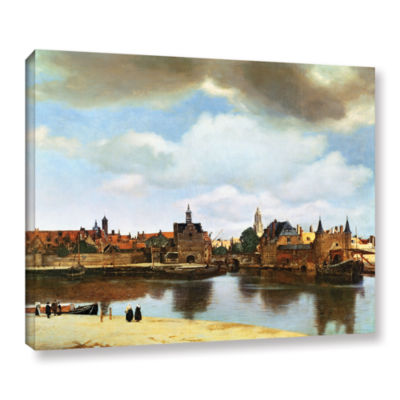 Brushstone View of Delft III Gallery Wrapped Canvas Wall Art