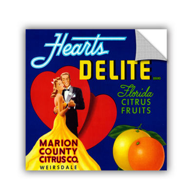 Brushstone Hearts Delite Fruit Crate Label c.1920Removable Wall Decal