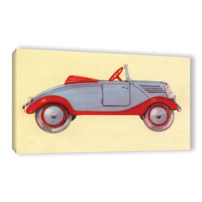 Brushstone Illustration of Toy Car  1935 Gallery Wrapped Canvas Wall Art