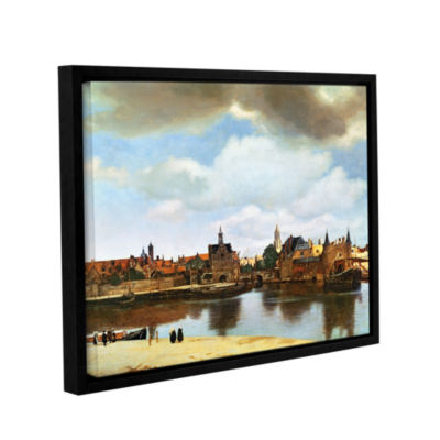 Brushstone View of Delft III Gallery Wrapped Floater-Framed Canvas Wall Art