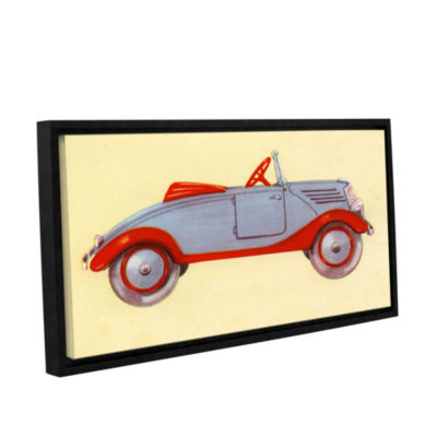 Brushstone Illustration of Toy Car  1935 Gallery Wrapped Floater-Framed Canvas Wall Art