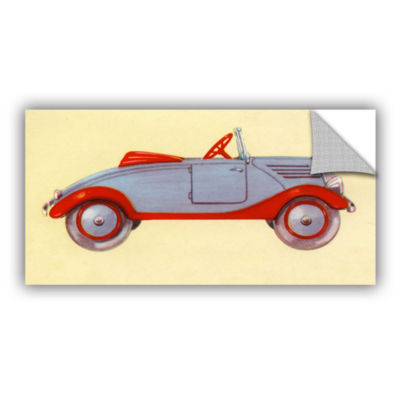 Brushstone Illustration of Toy Car  1935 RemovableWall Decal