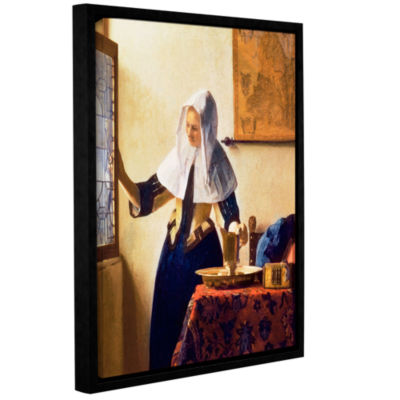 Brushstone Young Woman with a Water Jug Gallery Wrapped Floater-Framed Canvas Wall Art