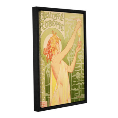 Brushstone Absinthe Robette Gallery Wrapped Floater-Framed Canvas Wall Art