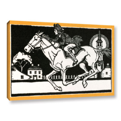 Brushstone The Midnight Ride of Paul Revere 1930 Gallery Wrapped Canvas Wall Art