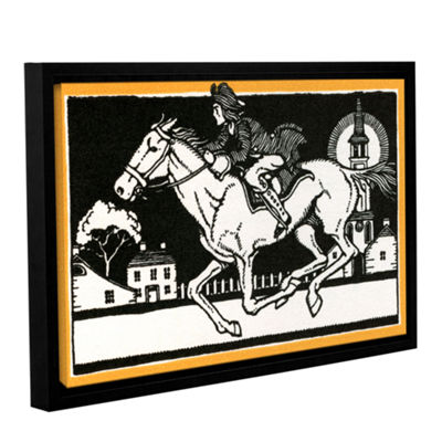 Brushstone The Midnight Ride of Paul Revere1930 Gallery Wrapped Floater-Framed Canvas Wall Art