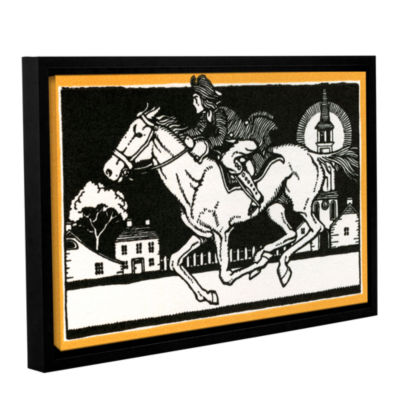 Brushstone The Midnight Ride of Paul Revere 1930 Gallery Wrapped Floater-Framed Canvas Wall Art
