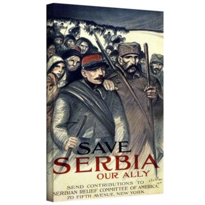 Brushstone Save Serbia Gallery Wrapped Canvas WallArt