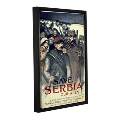 Brushstone Save Serbia Gallery Wrapped Floater-Framed Canvas Wall Art