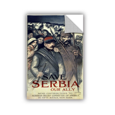 Brushstone Save Serbia Removable Wall Decal