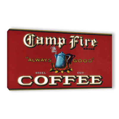 Brushstone Vintage Camp Fire Coffee Product Label1919 Gallery Wrapped Canvas Wall Art