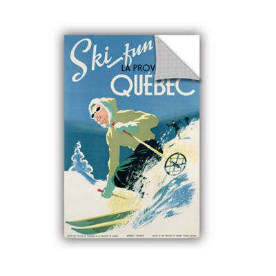 Brushstone Skiing In Quebec Removable Wall Decal