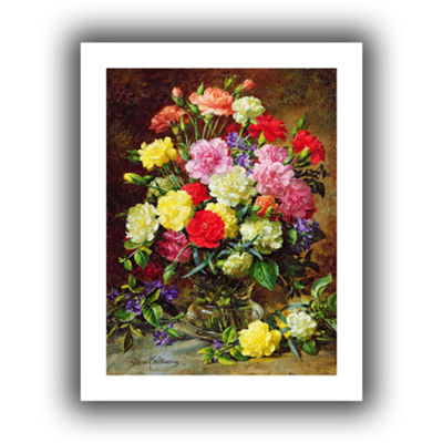 Brushstone Carnations of Radient Colors Canvas Wall Art