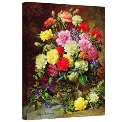 Brushstone Carnations of Radient Colors Gallery Wrapped Canvas Wall Art