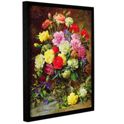 Brushstone Carnations of Radient Colors Gallery Wrapped Floater-Framed Canvas Wall Art