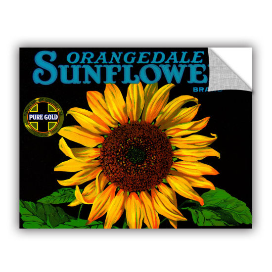 Brushstone Vintage Sunflower Fruit Crate Label1926Removable Wall Decal