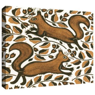 Brushstone Beechnut Squirrels Gallery Wrapped Canvas Wall Art