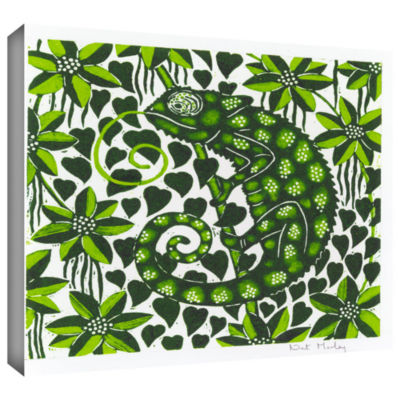 Brushstone Chameleon Gallery Wrapped Canvas Wall Art