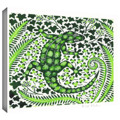 Brushstone Green Gecko Gallery Wrapped Canvas WallArt